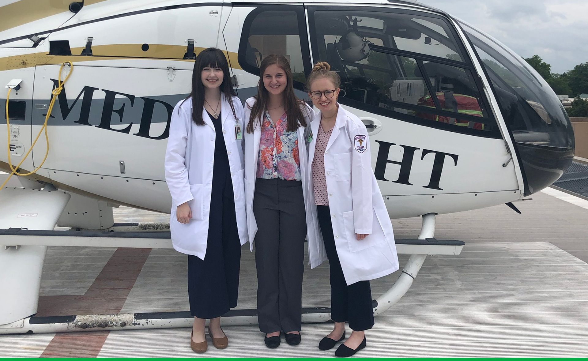 2019 Interns on Helicopter Pad